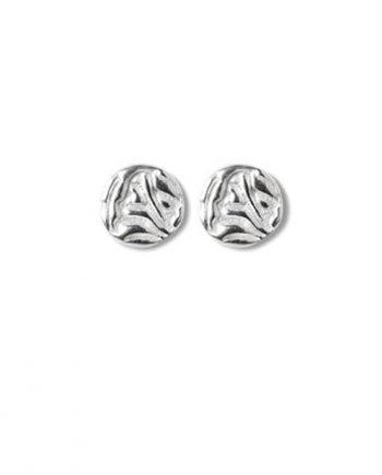 Örhängen Silver Mini Shield Small Ear Stud