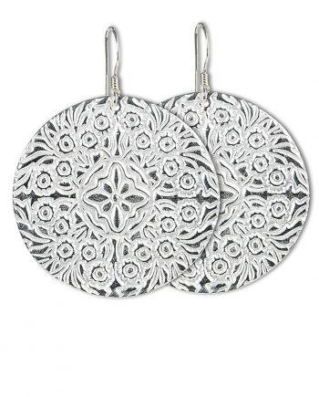 Örhängen Silver Shields