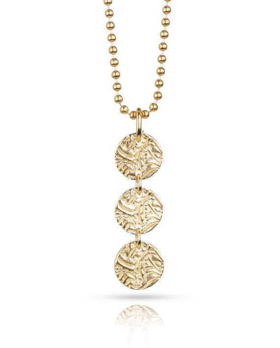 Halsband Guld 3-Shield - Shieldmaid 7fc5554a17bfe