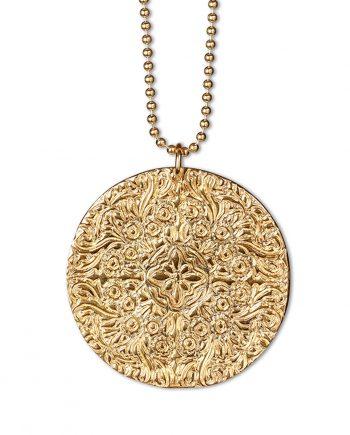 Halsband Guld Large Shield