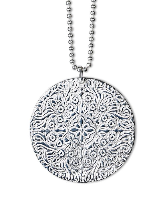 Halsband Silver Large Shield