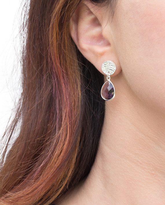 Örhängen-Silver-Mini-Shield-Drop-Lilac-Modell-Shieldmaid-1095-SEK-