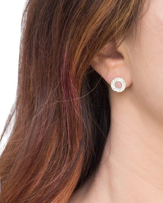 Örhängen-Silver-Mini-Shield-Eart-Stud-Rose-Shieldmaid-696-SEK